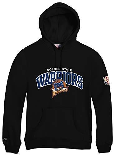 Mitchell & Ness Golden State Warriors HWC Arch Logo Hoody Black Hoodie Sweater Herren Mens