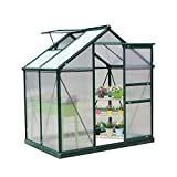 Outsunny Clear Polycarbonate Greenhouse Large Walk-In Green House  6ft x 4ft