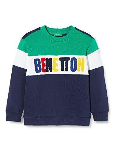 United Colors of Benetton Jungen Felpa Pullover, Blau (Peacoat 252), 158 (Herstellergröße: EL)