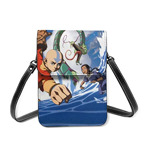 XCNGG Avatar Last Airbender Cartoon Anime Cell Phone Purse Crossbody Bags Women Men Teen Small Wallet With Removable Shoulder Strap