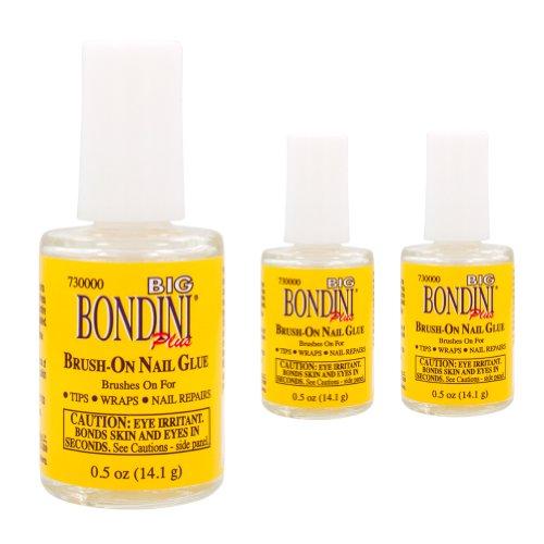 Big Bondini Brush-On Nail Glue .5oz (PACK OF 3)