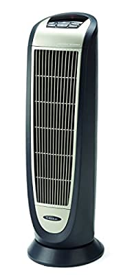 Lasko 5160 Ceramic Tower Heater with Remote Control, Black 5160