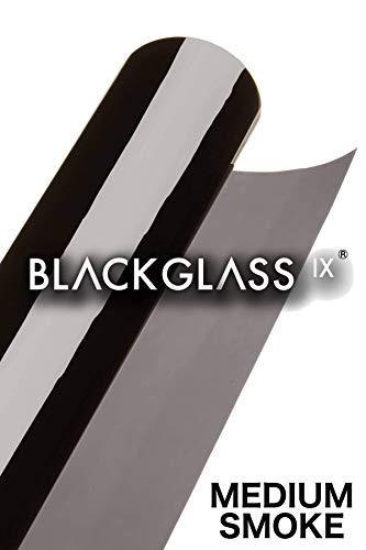 BLACKGLASS IX® Scheibentönungsfolie Spitzenqualität Tönungsfolienrolle für Autos, Transporter und Fahrzeuge 17{3f601dc318870bcb956ac80ce76e05a0b30180c570ecc211f06620de1d489098} VLT, 6 m x 65 cm, 2-lagig