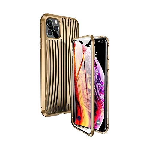 Trunk Phone Case para iPhone 11 11 Pro MAX Coque doble cristal cubierta de metal parachoques para iPhone Xs XR 8 8 Plus funda de lujo