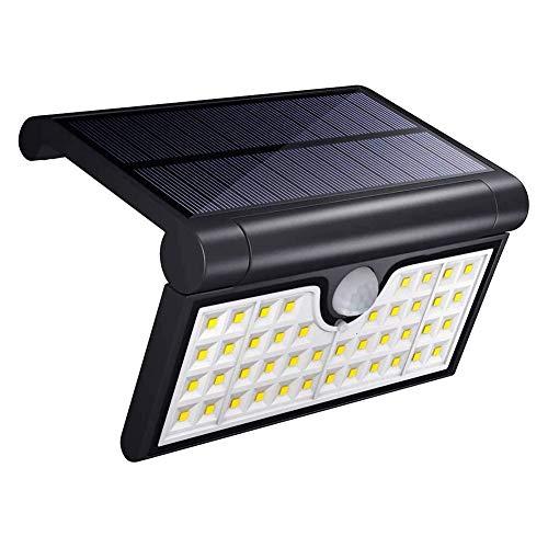 Zonne-lampen voor buiten, 42 zonne-LED-lamp Outdoor Met motion waterdicht op zonne-wandlamp Solar Outdoor Light Solar Light Voor Garden,Black