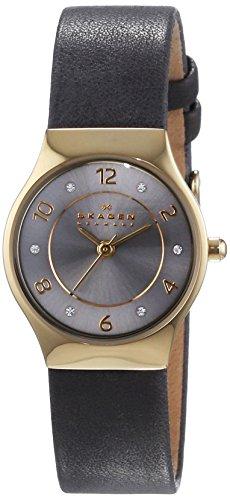 Skagen Damen-Armbanduhr XS Analog Quarz Leder SKW2208