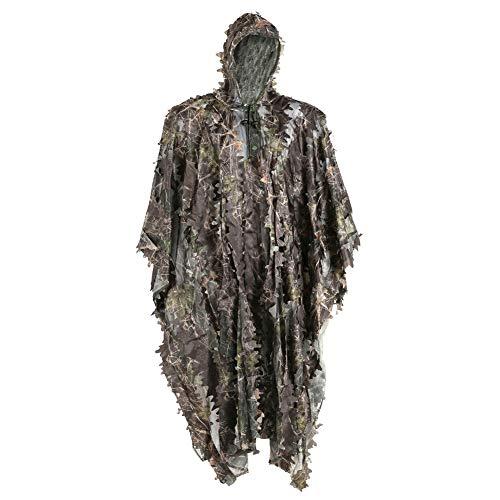 TBDLG Costume De Ghillie, Costumes Costume De Ghillie, Cape en Feuille 3D Camo D'observation d'oiseaux Camouflage De Type Ouvert Respirant De Costume De Sniper
