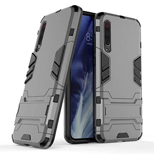 FanTings Capa para Xiaomi Mi 9 Pro 5G, robusta e à prova de choque, com suporte de telefone celular, capa para Xiaomi Mi 9 Pro 5G-Cinza