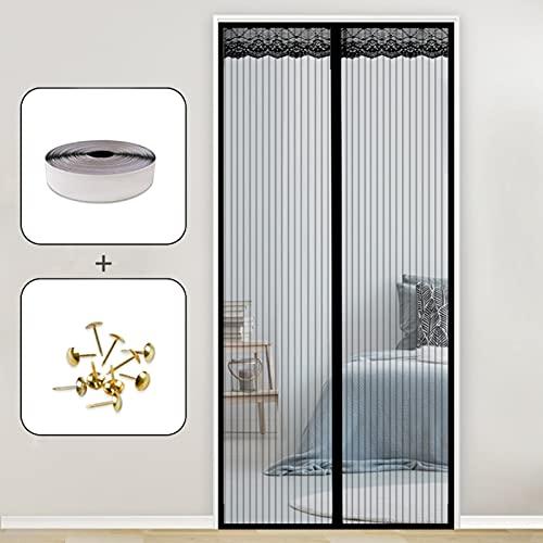 AMZERO Fliegengitter Tür Magnet, 230x245cm Insektenschutz Magnet Fliegenvorhang Ideal Moskitonetz Magnetverschluss...