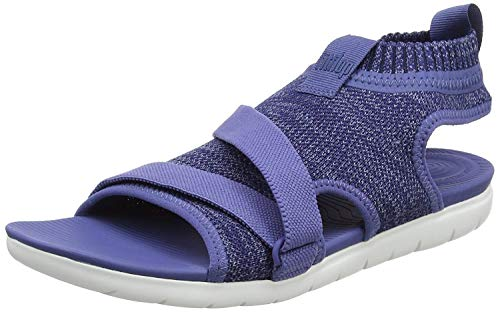 Fitflop Damen Uberknit Back-Strap Sandals Riemchensandalen, Blau (Indian Blue/Powder Blue 564), 37 EU