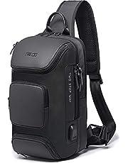 YUCG ボディバッグ メンズ 斜めがけ 大容量 ワンショルダーバッグ 防水 USB充電ポート 肩掛けバッグ iPad収納可能 通勤