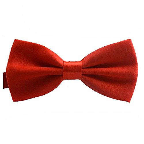 SODIAL(R) reglable Cravate La Nouveaute De La Mode Classic Mens Reglable Mariage De oking Cravate Noeud Papillon Rouge