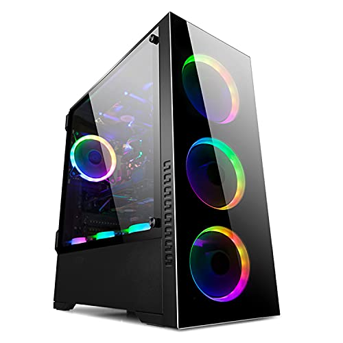 GOLDEN FIELD Z21 Boîtier Gaming PC (Compatible E-ATX/ATX/M-ATX/ITX Moyen-Tour en Verre Trempé Porte Battante)