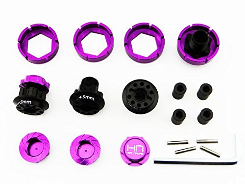 CrazyRacer H-P-I Savage Flux X XL 21 25 SS 4.6 17mm Hex Wheel Conversion with 5mm Extensions Purple
