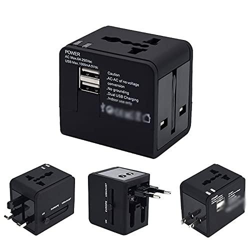 Convertidor de enchufe Doble universal internacional USB Adaptador de corriente del cargador de viaje multifunción del convertidor del enchufe del convergente ESTADOUNIDENSE UE UE AU Adaptador Univers