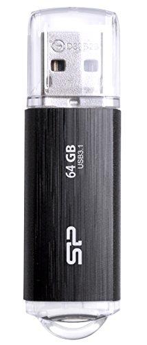 シリコンパワー USBメモリ 64GB USB3.1 & USB3.0 ヘアライン仕上げ Blaze B02 SP064GBUF3B02V1K