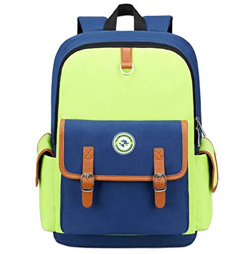 Kids Backpack Children Bookbag Preschool Kindergarten Elementary School Bag for Girls Boys(16182 Large green)