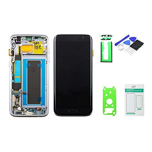 kaputt.de Display schwarz (5,5 Zoll) für Samsung Galaxy S7 Edge   Super AMOLED Bildschirm inkl. DIY Reparatur-Set