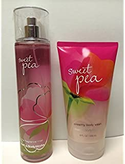 Sweet Pea Fine Fragrance Mist and Creamy Body Wash (Set of Two)