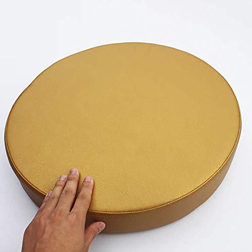 ZGYZ Round Sponge Seat Cushions, Waterproof Bay Window Chair Cushion Thicken Futon Dinning Chair Pad-8cm Thick-gold,40cm