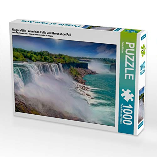 CALVENDO Puzzle Niagarafälle - American Falls und Horseshoe Fall 1000 Teile Lege-Größe 64 x 48 cm Foto-Puzzle Bild von Peter Roder