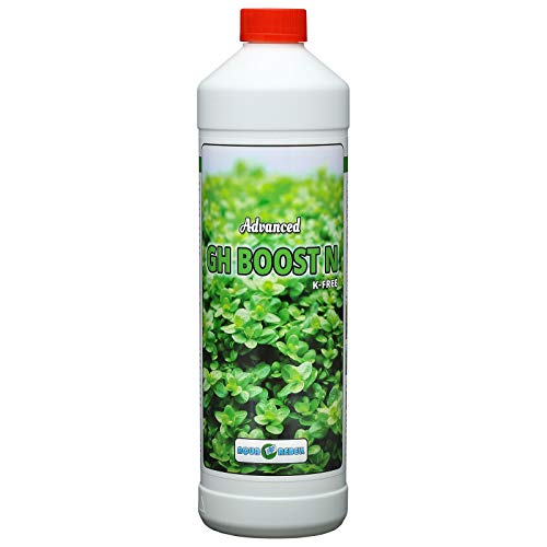 Aqua Rebell ®️ Advanced GH Boost N - 1 Literflasche - optimale Versorgung für Ihre Aquarium Wasserpflanzen - Aquarium Eisenvolldünger speziell für Wasserpflanzen entwickelt