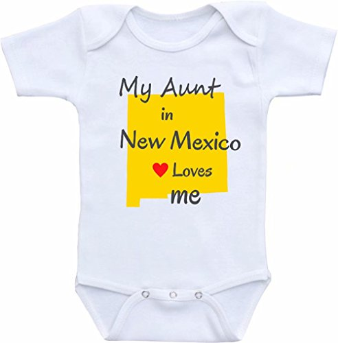 Promini Funny My Tunt Uncle in New Mexico Love Me Baby Body Lindo Body de una sola pieza para bebé mameluco de bebé el mejor regalo para bebé