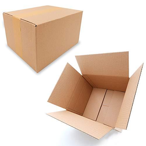 25 Faltkartons 250x200x140mm braun KK 26 1 wellig rechteckig Versandkarton für mittelgroße Waren | DHL Päckchen M | DPD S | GLS S | H Paket S | mittelgroße Kartons