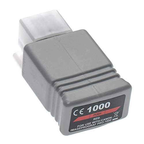 vhbw Cartucho de Tinta Rojo reemplaza Canon PFI-1000 R, PFI-1000R - Cartucho para Impresora, 80ml+Chip