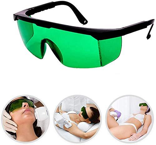 Lichtschutzbrille Schutzbrille für die HPL/IPL Haarentfernung Gerät Schutzbrille für IPL Haarentferner Einstellbar IPL Haarentfernungsgerät Brille für Körper Gesicht Bikini-Zone & Achseln (Grün)