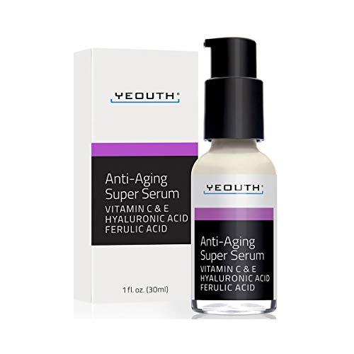 Super Siero Anti-Invecchiamento, Acido Ferulico, Vitamina C, Acido Ialuronico da YEOUTH.
