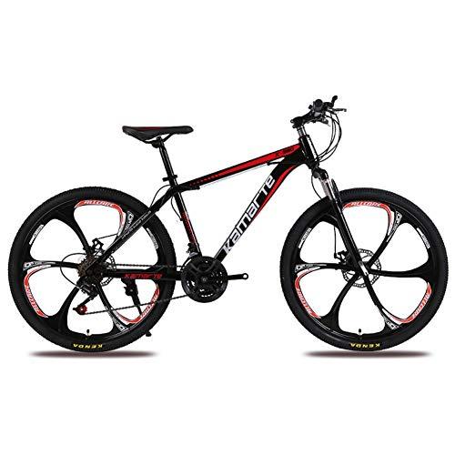 COSCANA Bicicleta De Montaña De 26 Pulgadas 21-27 Velocidades Frenos De Disco Dual Bicicleta De Montaña Suspensión Delantera Bicicleta De Ciudad MTB Bicicleta De Montaña Al Aire LibreBlack-21 Speed