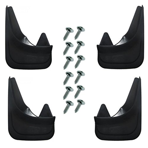 4 guardabarros delanteros y traseros moldeados, universales