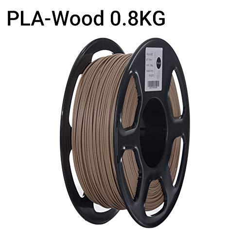 Without brand LSB-3D Prints, 1pc 3D Printer PLA Filament Filament 1.75mm Précision dimensionnelle +/- 0,02 mm 1 kg 3D Matériel 2.2lbs 343 Millions d'impression for RepRap (Couleur : Wood 0.8KG)