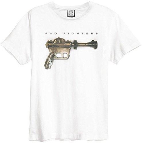 Amplified Foo Fighters – Ray Gun – Herren-T-Shirt, Weiß Gr. S, weiß