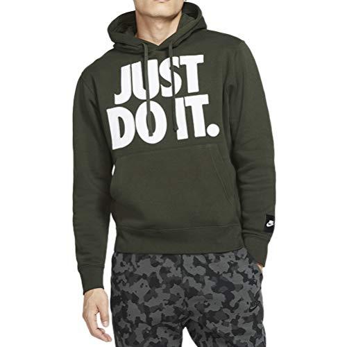 Nike Sportswear, Felpa Uomo, Verde/Bianco (Sequoia/White), S