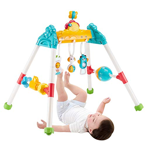 YzDnF Baby Crawling Game Pad Recién Nacido Educación temprana Puzzle Baby Fitness Rack Rack Starting Picking Thing Toy Kick Play Piano Gimnasio (Color : Purple, Size : 60x70x67cm)