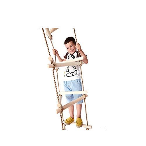 Triangle Rope Ladder, 6 Stränge à 3 Knoten Dickes Holz Sicheres Klettern Helfen Sie Kindern, ihre Koordination zu stärken und die Ausdauer der Kinder zu verbessern