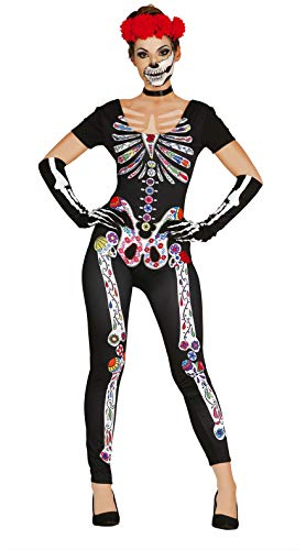 Guirca 84436 - Mexican Skeleton Adulta Talla M-L 42-44 Spandex