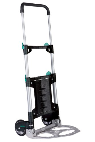 Wolfcraft TS 300 Transportsystem 5530000 / Klappbare Handkarre für Lasten bis zu 30 kg / Leichte Sackkarre für den alltäglichen Transport von Einkäufen, Getränkekisten, u.v.m