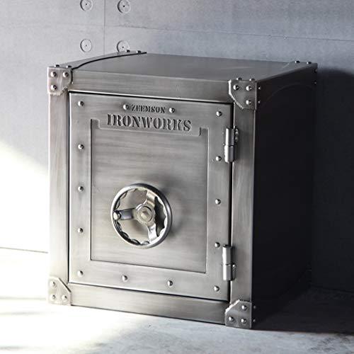 Mesita de Noche Moderna Gabinete de noche Mesilla de noche Industrial Tabla almacenaje del metal del hierro retro organizador del gabinete de cuarto de baño salón dormitorio Multifuncional Mesa Auxili