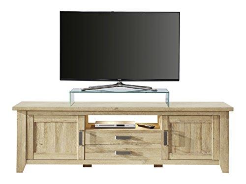 trendteam Wohnzimmer Lowboard Fernsehschrank Fernsehtisch Canyon, 189 x 57 x 48 cm in Alteiche Dekor mit viel Stauraum und offenem Fach