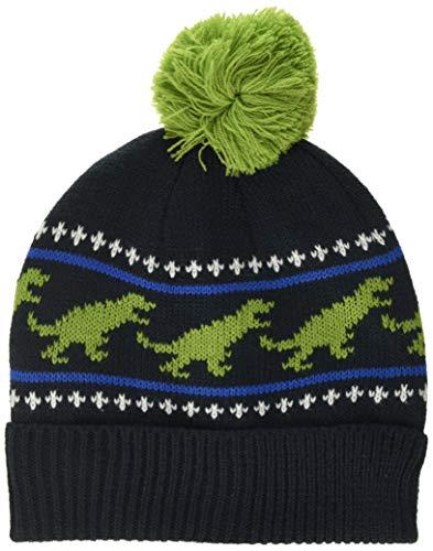 Hatley Jungen Winter Hat Mütze, Blau (T-Rex 400), Large