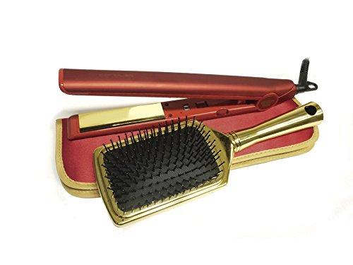 Corioliss C1 Kit Red Royale - Plancha de pelo profesional + cepillo + funda, color rojo (edición limitada)