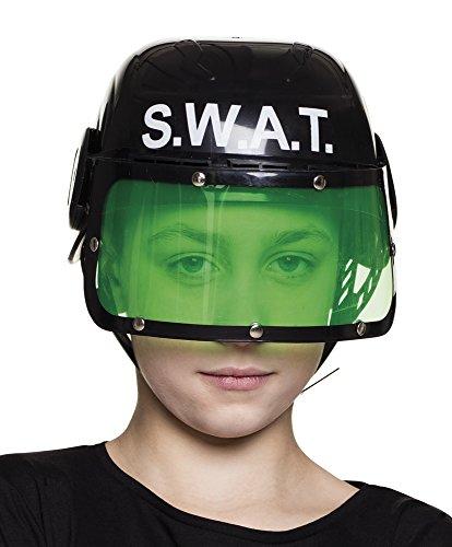 narrenkiste B01392 SWAT - Casco infantil, color negro