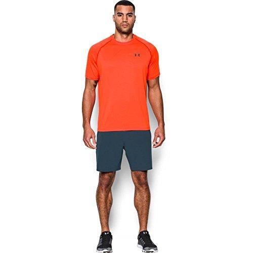 Under Armour Ua Tech Ss Tee, Camiseta De Fitness Hombre, Naranja (Phoenix Fire), M