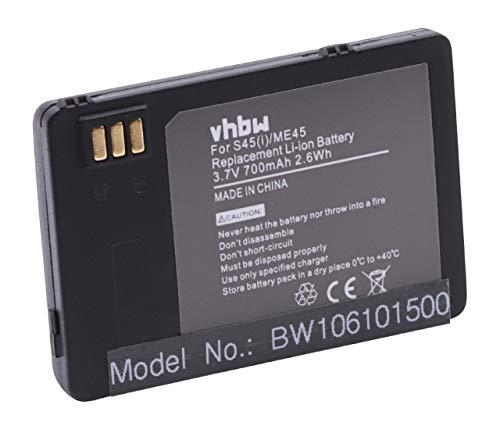 vhbw Akku passend für Siemens 3618, 6618, ME45, S45, S45i Handy Smartphone Handy (700mAh, 3.7V, Li-Ion)