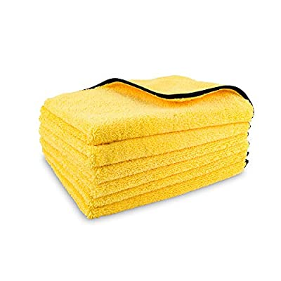Ultimate Microfiber Cleaning Towels 6-Pack - Soft Car Drying Micro Fiber Towels - Large Dual Sided Auto Detailing Towel Supplies - Kitchen, 16 in x 22 in