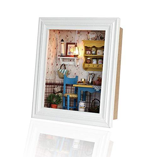 Casa delle Bambole Fai-da-Te, Design della Cornice in Miniatura Casa delle Bambole Display Mini Kit casa Decorazione della casa Mobili Regali di Compl