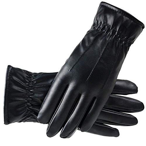 Cocila Damen Lederhandschuhe Plus Samtverdickung Winter Kaltwetterhandschuhe mit Warm Dual Lining Touchscreen-Handschuhen(Mehrfarbig,One size)